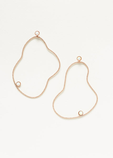 Lovehate Organic Abstraction Earring | Rose Gold