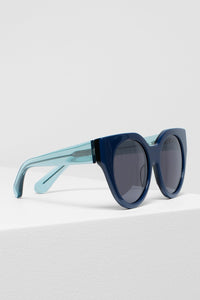 Naema Sunglasses | Elk The Label | Navy/Emerald