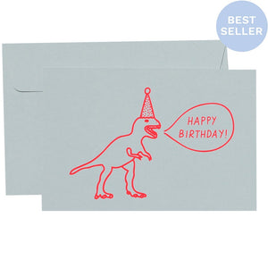 T-Rex Birthday Card | Me and Amber