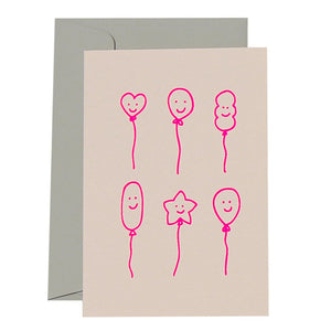 Smiley Balloons Birthday Card | Me and Amber