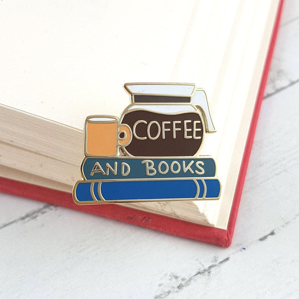 Coffee And Books Lapel Pin | Jubly-Umph