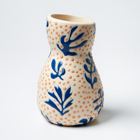 Saturday Vase | Jones and Co | Matisse Blue