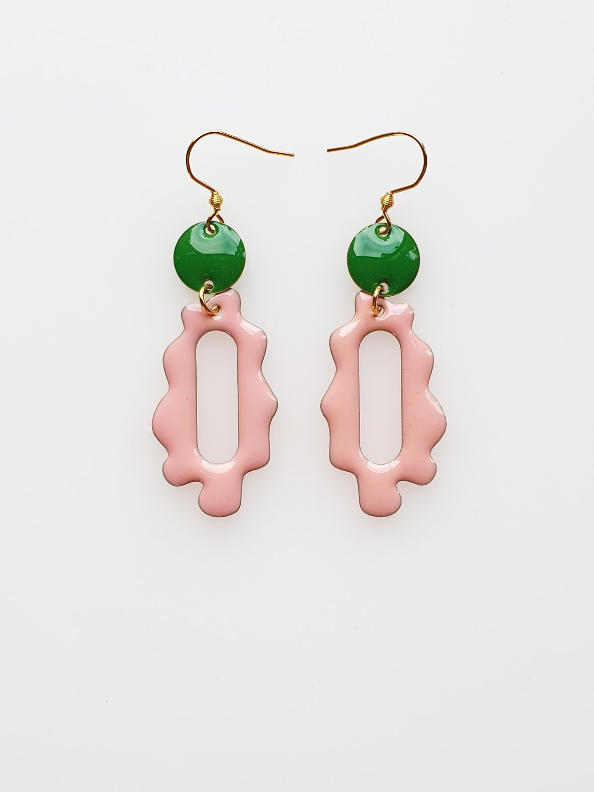 Sherburst Earring | Pink Green | Middlechild