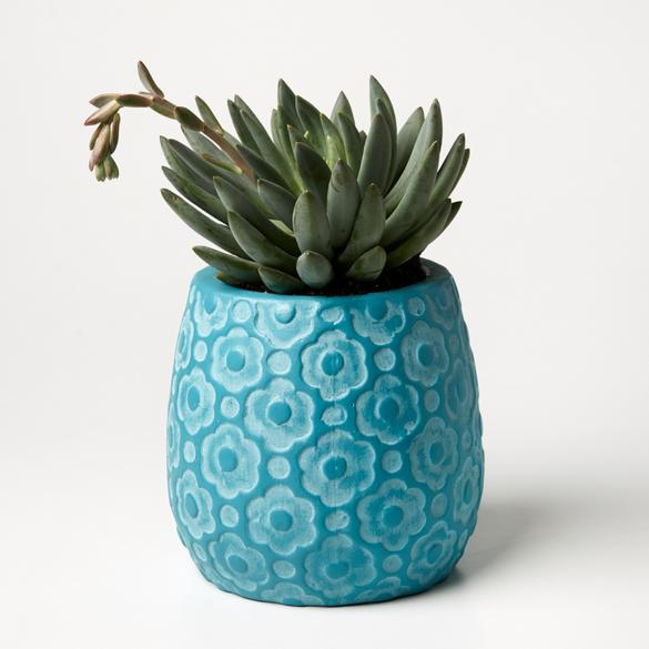 Ditsy Planter | Jones and Co | Teal