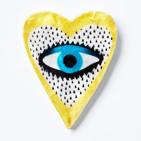Heart Eye Yellow Wall Art | Jones and Co.