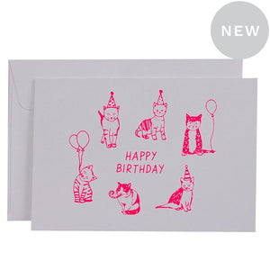 Party Cats Card | Me and Amber