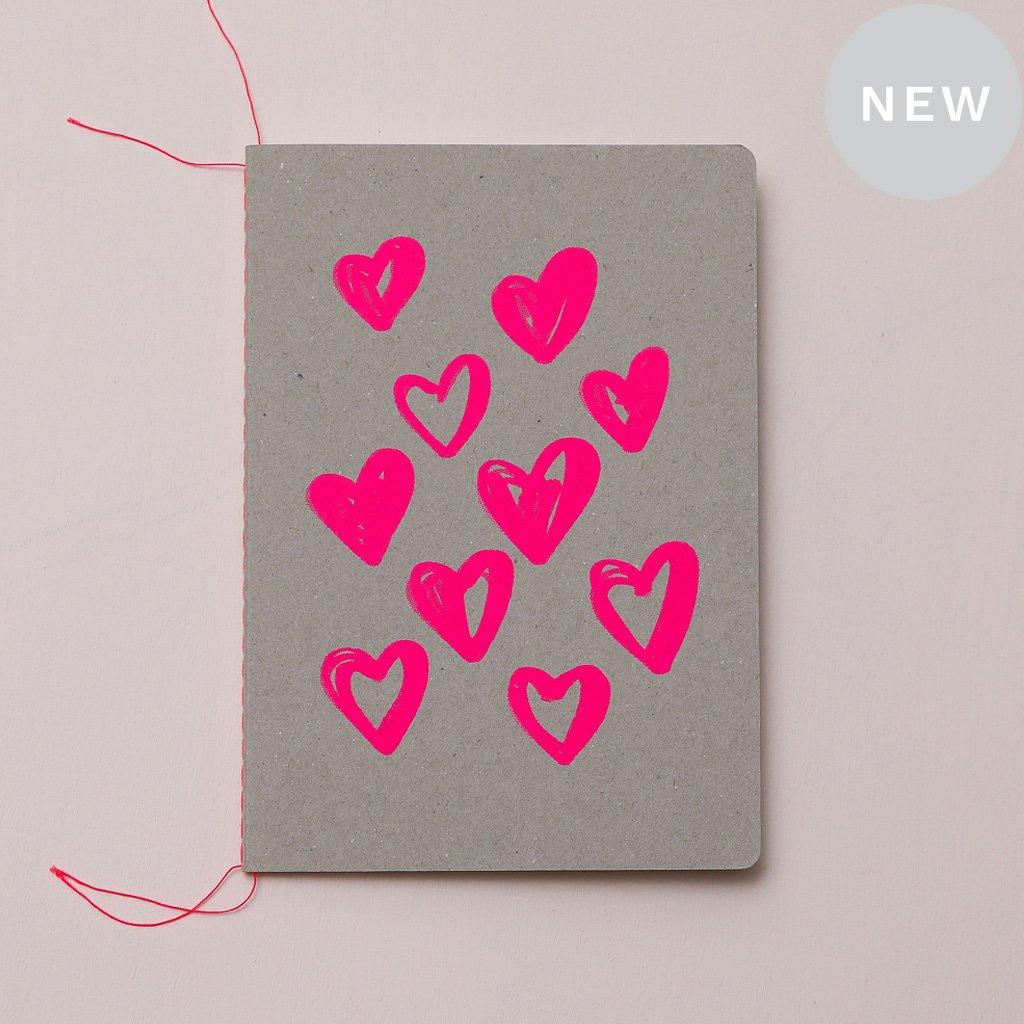 Heart Scatter Notebook | Me and Amber