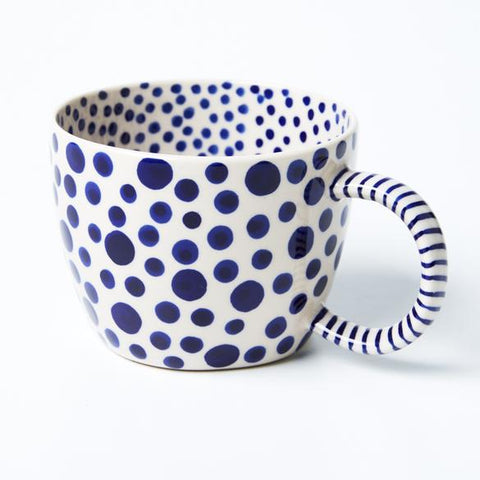 Chino Mug | Navy Spot | Jones and Co