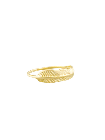 Gold Feather Ring | Tiger Tree