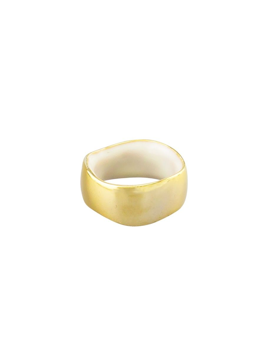 Gold & White Two Tone Ring | Tiger Tree