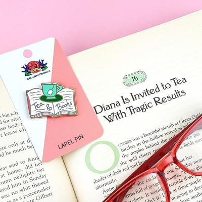 Tea and Books Lapel Pin | Jubly-Umph