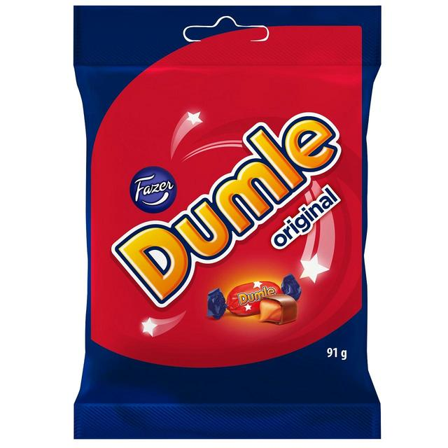 Fazer Dumle Soft Chocolate Covered Toffees 91g