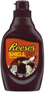 Reeses Chocolate & Peanut Butter Shell Topping 205g