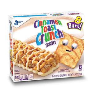 Cinnamon Toast Crunch Treat Bars 8 x 24g - Best Before 23rd March 2021