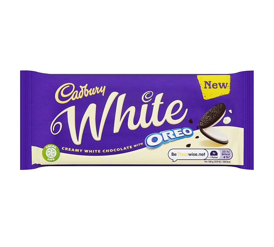 Cadbury Oreo White Chocolate Bar 120g