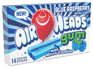 Airheads Sugar Free Gum Blue Raspberry 14 Piece