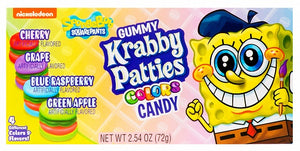 Spongebob Krabby Patties Colours Theatre Box 72g