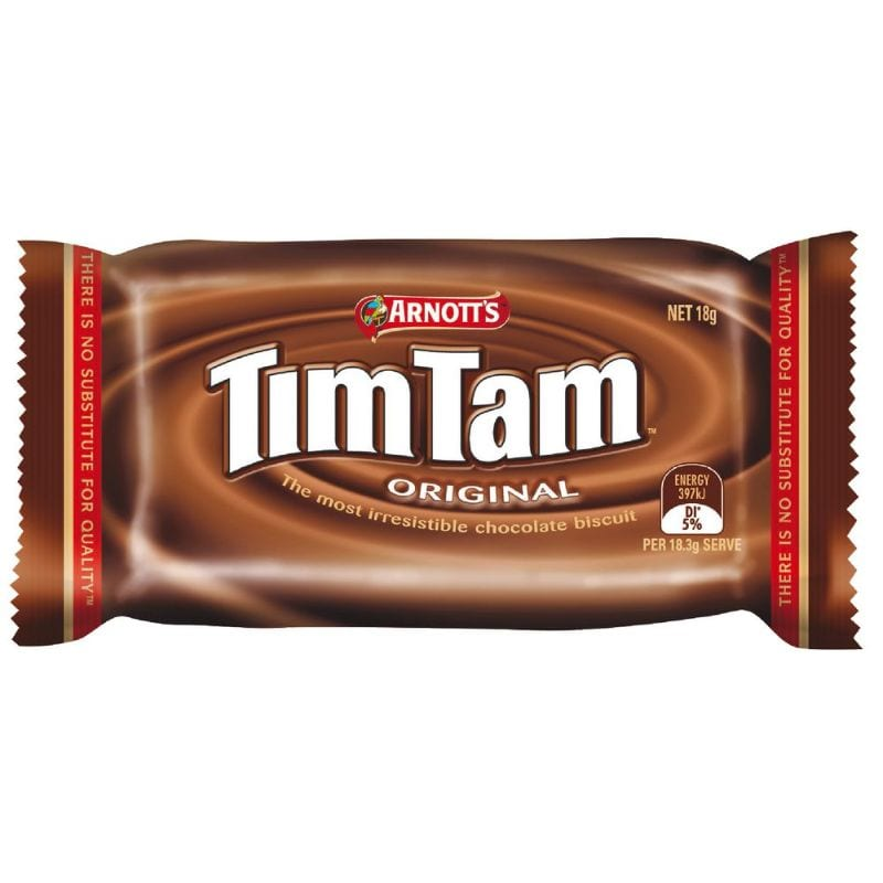 Arnotts Tim Tam Original Single Individually Wrapped 18g