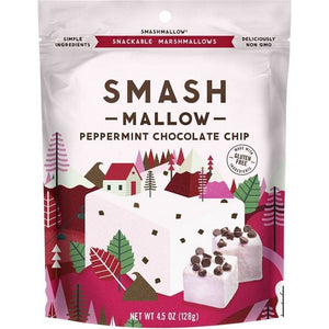 Smashmallow Holiday Peppermint Chocolate Chip Marshmallows 128g