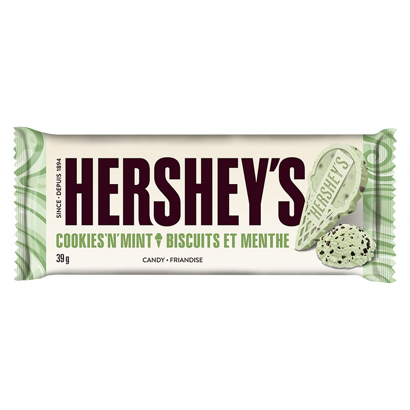 Hershey's Cookies 'N' Mint Chocolate Bar 39g