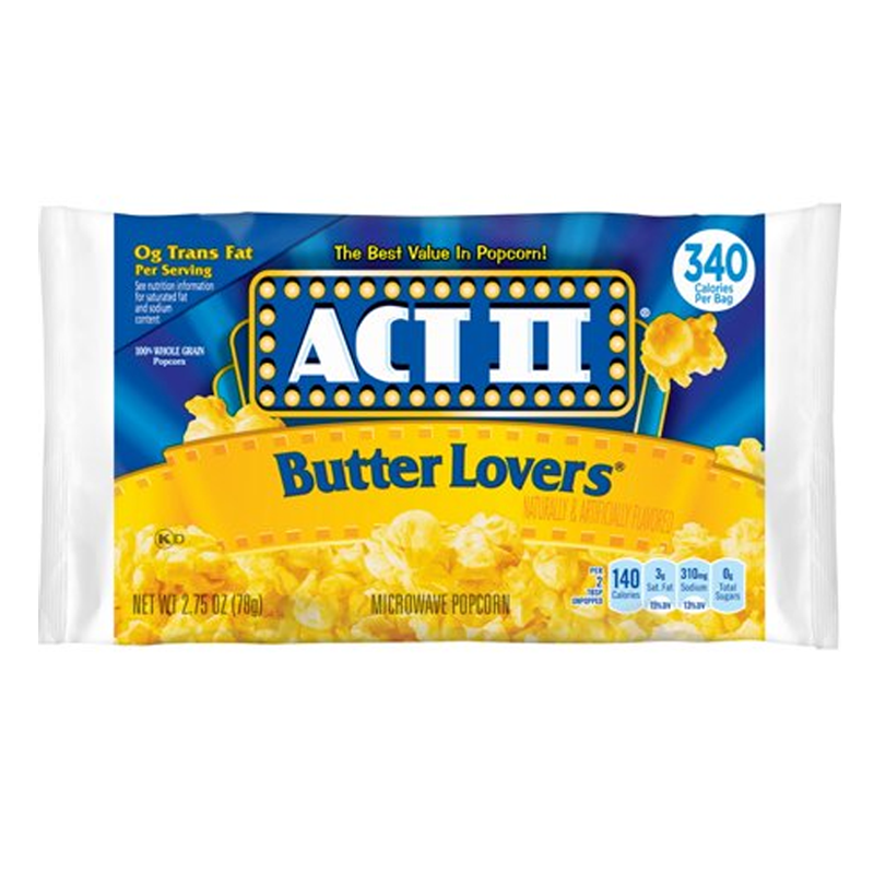 Act II Butter Lovers Popcorn 78g