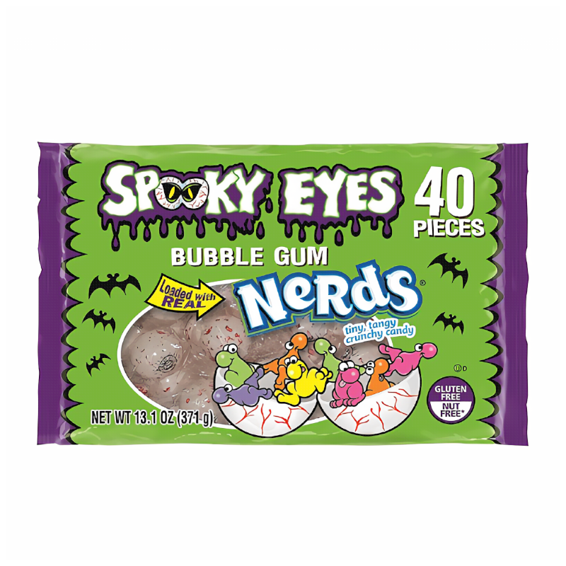 Bubble King Spooky Eyes Bubble Gum with Nerds Candy 370g