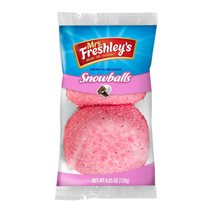 Mrs Freshley's Pink Snowballs Cakes Twin Pack 120g