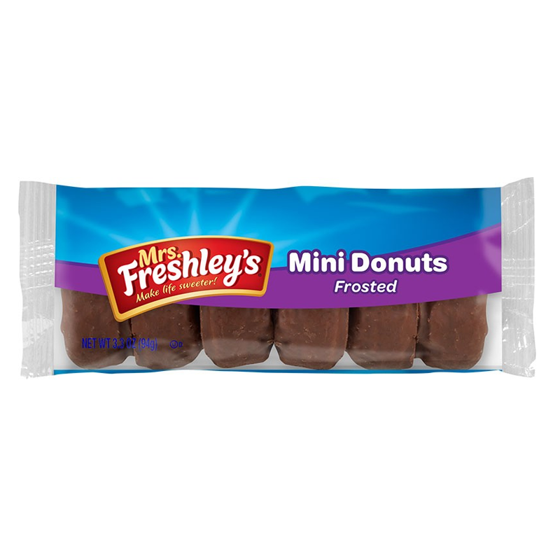 Mrs Freshley's Frosted Chocolate Mini Donuts 93g