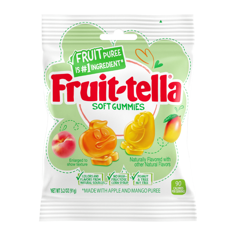 Fruit-tella Soft Gummies Peach & Mango 91g