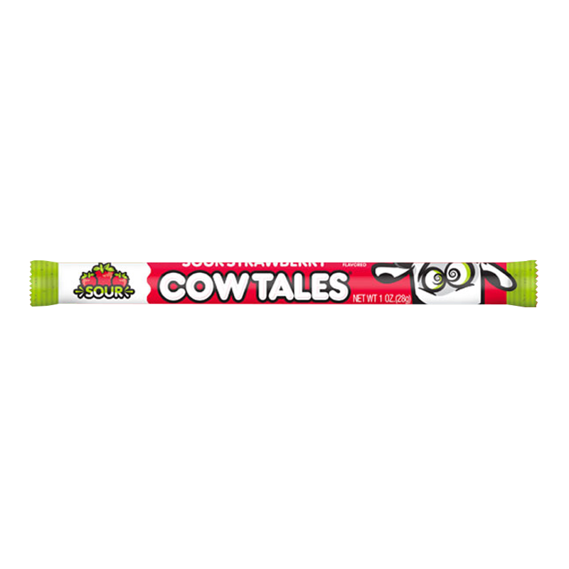 Cow Tales Limited Edition Sour Strawberry 28g - Best Before 1st January 2021
