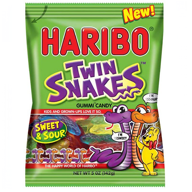 Haribo Sweet & Sour Twin Snakes 142g