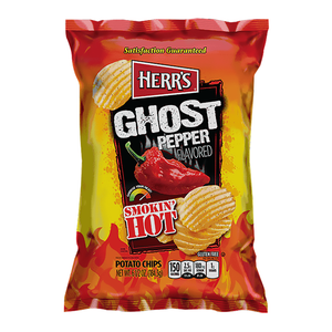 Herr's Smokin' Hot Ghost Pepper Potato Chips 184g