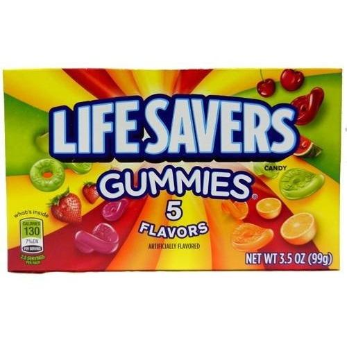 Life Savers Gummies Theatre Box 99g - Best Before - February 2021