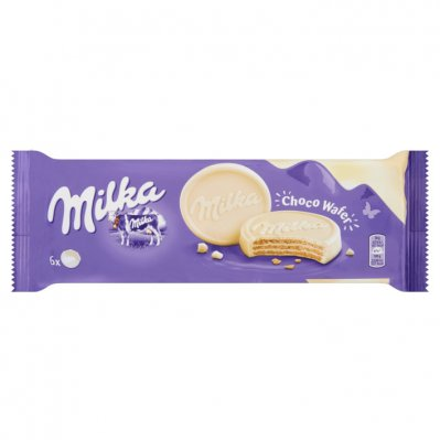 Milka Chocolate White Chocolate Wafers Rounds 180g - Best Before 24th February 2021
