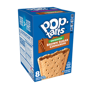 Pop Tarts Unfrosted Brown Sugar Cinnamon 8 Pack 384g