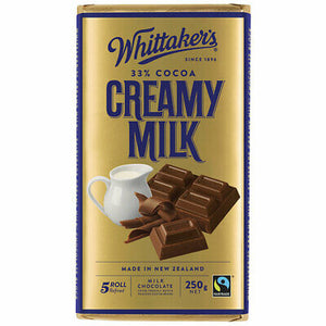 Whittakers Creamy Milk Chocolate Block 250g