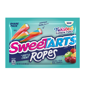 Sweetart Ropes Bites Share Size Twisted Rainbow Punch 99g