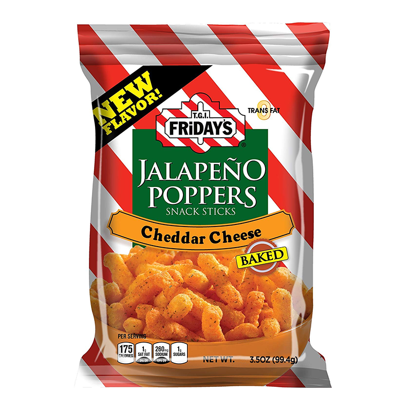 TGI Fridays Jalapeño Poppers Snack Sticks 99g