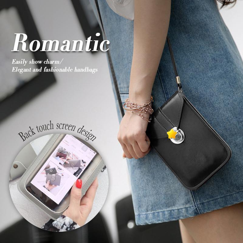 Touchable PU Leather Change Bag  Mobile Phone Bag