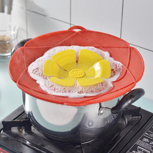 Splash-proof and boiling-proof pot cover