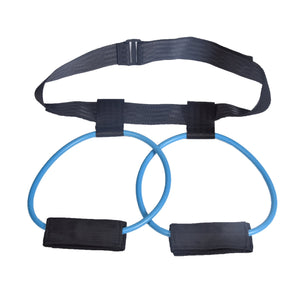 Leg and hip training belt pedal pull rope