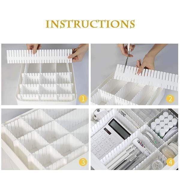 (4PCS) DIY Drawer Division Board