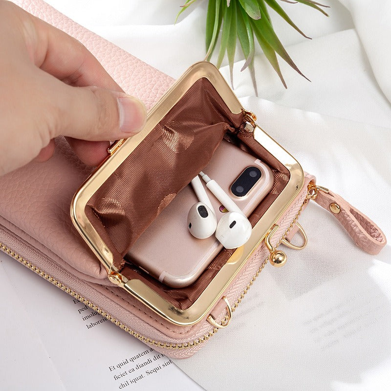 (50% OFF)Women Phone Bag Solid Crossbody Bag(BUY 2 FREE SHIPPING)