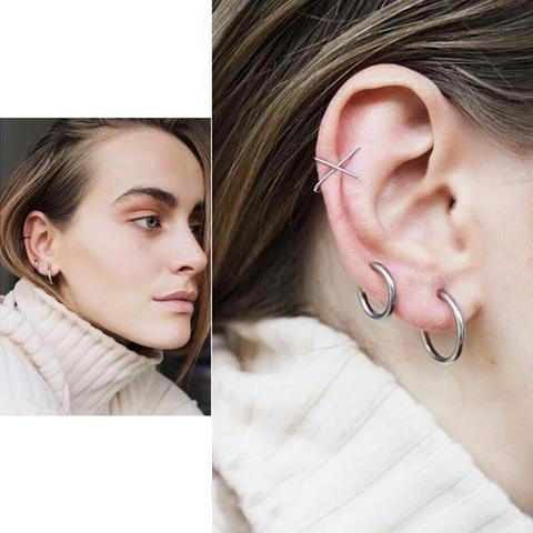 Retractable Earrings Ear Hoops-No need piercing