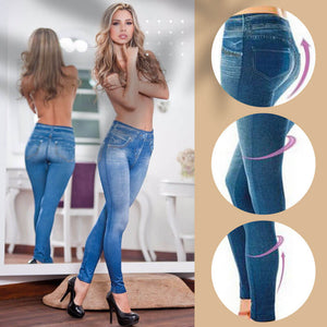 Button-Free Sharping Jeans Leggings(On promotion)(50% OFF!!)