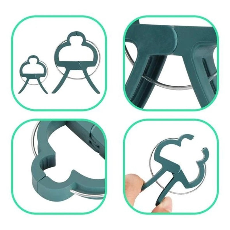 Reusable Garden Flower Lever Loop Gripper Clips(10PCS)
