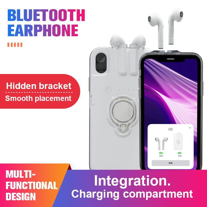 Bluetooth headset phone case integrated design