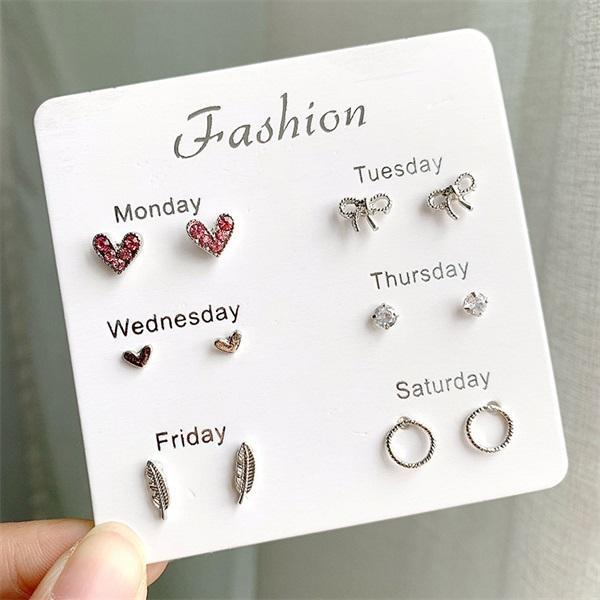 60 Pairs Fashion Stud Earrings