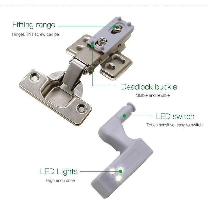 Mechanical pressure sensing LED Light