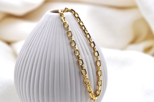 ANCHOR CHAIN SMALL | Sterling Silber Gold plattiert